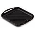 Le Creuset Square Skillet Grill, cast iron, colour: shiny black