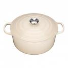 Le Creuset Round Dutch oven 28 cm, cast iron, colour: almond