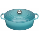 Le Creuset Oval Dutch oven 27 cm, cast iron, colour: turquoise