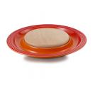 LE CREUSET 91044900090010 Подставка для сыра с деревянной доской 37х3,5 см,  оранж. лава