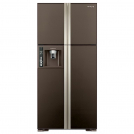 Refrigerator HITACHI R-W722 PU1 GBW dark brown