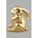 Фигурка Заяц №2 Арт-коллекция фигурок золото матовое Rudolf Kampf 2103k