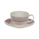 Set of 2 cups with saucers, 400 ml, Petra, ROYAL BONE CHINA
