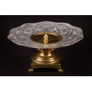 Art17 Large Fruit bowl, the work of authorship, bronze, crystal ArtDeco