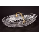 Art15 Fruit bowl with handle, the work of authorship, bronze, crystal