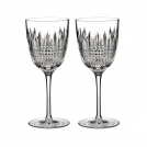 160019 Set of white wine glasses, 2 pcs, 18 cm, Lismore Diamond, Waterford, crystal