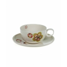 Set of 2 cups with saucers, 300 ml, Blossom season, ROYAL BONE CHINA