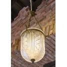 Large lantern lamp, the work of authorship, bronze, crystal, ArtDeco