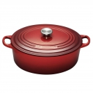 Le Creuset Oval Dutch oven 31 cm, cast iron, colour: cherry