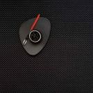 0025-BASK-BLAC Placemat, vinyl, 36x48 cm