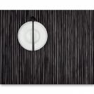 0027-RIBW-BLAC Placemat, vinyl, 36x48 cm