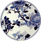Большая настенная тарелка, Gien, Голубые пионы, диаметр 61,5 см