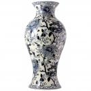 Japanese vase, GIEN, Pivoines Bleu, H 48 cm, diameter 23 cm