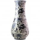 Museum vase big, GIEN, Pivoines Bleu, h 61 cm, diameter 29 cm