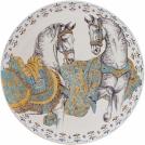 Large wall plate Gien, Chevaux du Soleil, diameter 61.5 cm