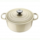 Le Creuset Round Dutch oven 26 cm, cast iron, colour: pearl