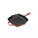 Le Creuset Square Skillet Grill 26 cm, cast iron, colour: cherry
