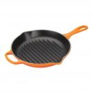 Le Creuset Round Grill pan 26 cm, cast iron, lava