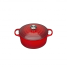 Le Creuset Round Dutch oven 20 cm, cast iron, colour: cherry