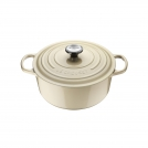 Le Creuset Round Dutch oven 20 cm, cast iron, colour: pearl