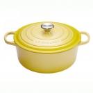 Кастрюля круглая 22 см, чугун, желтый , 21177224032430, LE CREUSET