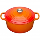 Le Creuset Round Dutch oven 24 cm, cast iron, colour: cherry