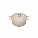 Le Creuset Round Dutch oven 24 cm, cast iron, colour: almond