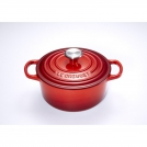 Le Creuset Round Dutch oven 26 cm, cast iron, colour: cherry