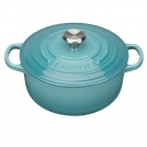 Le Creuset Round Dutch oven 26 cm, cast iron, colour: turquoise