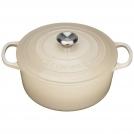 Le Creuset Round Dutch oven 26 cm, cast iron, colour: almond