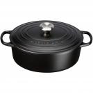 Le Creuset Oval Dutch oven 27 cm, cast iron, matte black colour