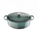 Le Creuset Oval Dutch oven 27 cm, cast iron, colour: ocean