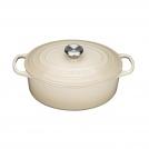 Le Creuset Oval Dutch oven 27 cm, cast iron, colour: almond