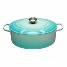 Le Creuset Oval Dutch oven 31 cm, cast iron, colour: mint
