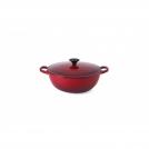 Le Creuset Soup Pot 26 cm, cast iron + enamel, colour: cherry