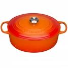 Кастрюля овальная для запекания 31 см, чугун, цвет оранжевая лава, 21178310902430, LE CREUSET, Франция