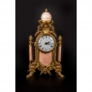 Clock with columns Olympus Brass, 425 GAMP, bronze, antique gold, pink marble