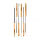Le Creuset Set of 6 Fondue forks, steel with wooden handles