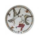Large wall plate Gien, Faucons, diameter 61.5 cm