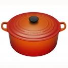Le Creuset Round Dutch oven 26 cm, cast iron, colour: cherry