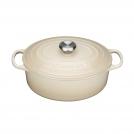 Oval Dutch oven 29 cm, cast iron, almond Le Creuset 21178296802430