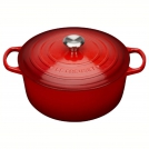 Le Creuset Round Dutch oven 28 cm, cast iron, colour: cherry