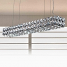 2203/SR-T Светильник подвесной , DIAMOND, (металл хром/кристалл), 130х22, прозрачный