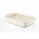Le Creuset Rectangular dish 26 cm, stoneware, colour: white almond