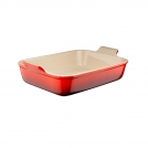 Le Creuset Rectangular dish 24/19 cm, stoneware, colour: cherry