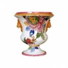 Medici vase Gien, Peony, diameter 40 cm, H 41 cm