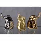 Фигурка Слон 82 мм Арт-коллекция фигурок матовое золото Rudolf Kampf 1701k