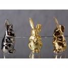 Фигурка Заяц сидящий 70 мм Арт-коллекция фигурок матовое золото Rudolf Kampf 1703k