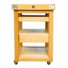 Сервировочный столик Chabret BILETA606090, 60x60x90см, с разделочной доской толщиной 8 см