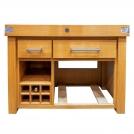 Разделочный столик с винным шкафом Chabret BILVI756290, на 24 бутылки, 120x620 (высота)х 90 см, некрашеный дуб